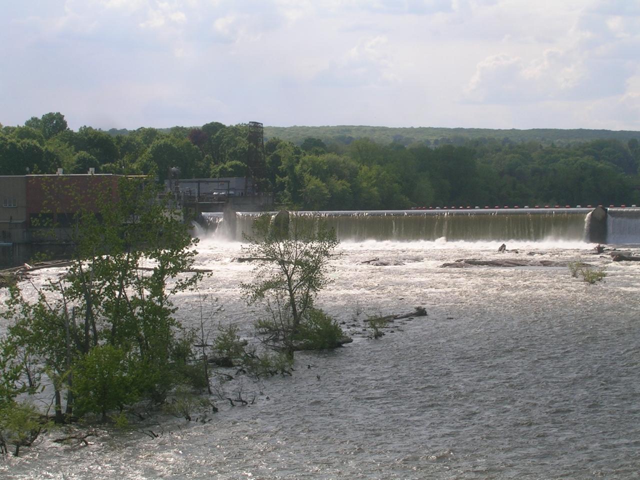 high flow over dam